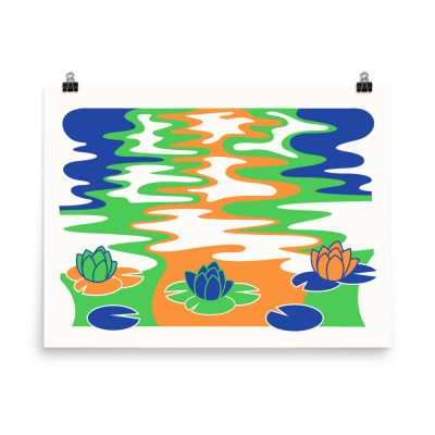 Water Lilies – poster by Mitchell Green