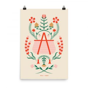 The Time of Wildflowers – poster by Abigail Grewenow