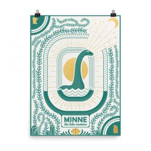 Minne the Lake Creature – poster by Monica Helland