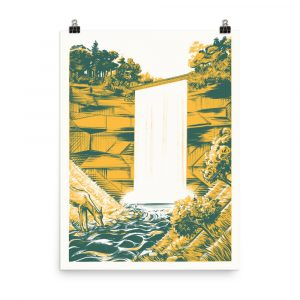 Minnehaha Falls – poster by Michael Iver Jacobsen