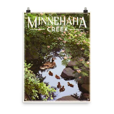 Minnehaha Creek – poster by Erik Krenz