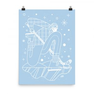 State of Pond Hockey – poster by Kyle Loaney