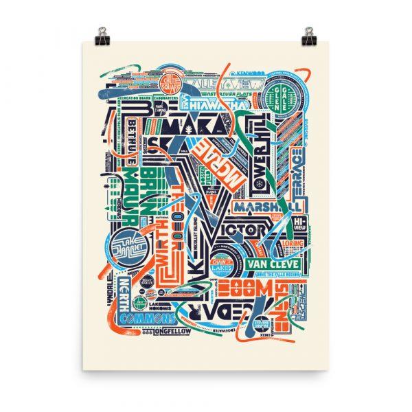 Park Names Collage – poster by Doug Pedersen