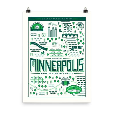 Minneapolis Park Explorer's Guide – poster by Gabriel Schmidt