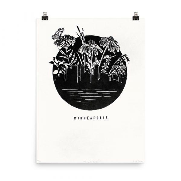 Minneapolis in Bloom – poster by Laurel Tieman