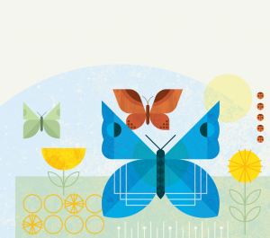 Posters for Parks 2021 butterfly banner for mobile screens