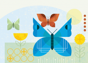 Posters for Parks 2021 butterfly banner for tablet screens